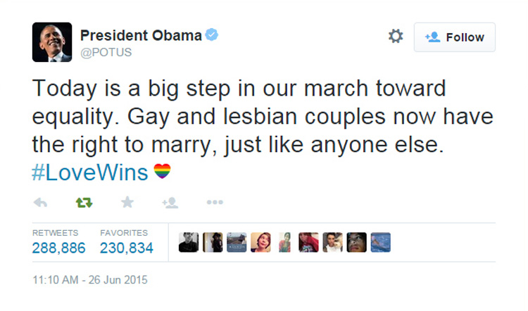 Casamento gay é legal nos EUA