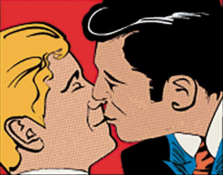 homens se beijando